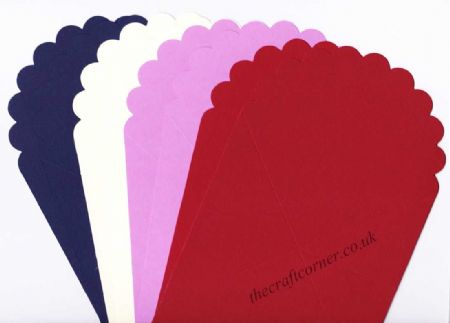 Fan Shaped Blank Jump Greeting Cards for Cardmaking